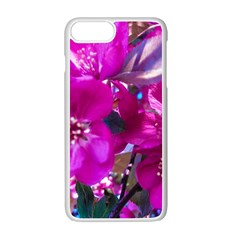 Pretty In Fuchsia Apple Iphone 7 Plus White Seamless Case by dawnsiegler