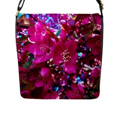 Pretty In Fuchsia 2 Flap Messenger Bag (l)  by dawnsiegler