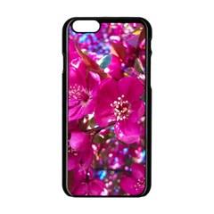 Pretty In Fuchsia 2 Apple Iphone 6/6s Black Enamel Case by dawnsiegler