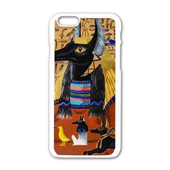 Anubis Apple Iphone 6/6s White Enamel Case by dawnsiegler