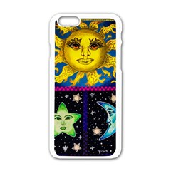 Celestial Skies Apple Iphone 6/6s White Enamel Case by dawnsiegler