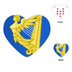 Coat Of Arms Of Ireland, 17th Century To The Foundation Of Irish Free State Playing Cards (heart)