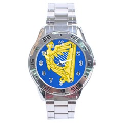 Coat Of Arms Of Ireland, 17th Century To The Foundation Of Irish Free State Stainless Steel Analogue Watch by abbeyz71