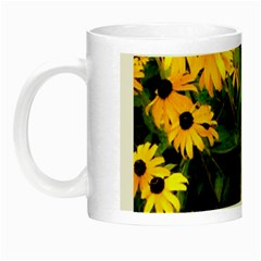 Walking Through Sunshine Night Luminous Mugs by dawnsiegler