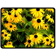 Walking Through Sunshine Double Sided Fleece Blanket (large)  by dawnsiegler