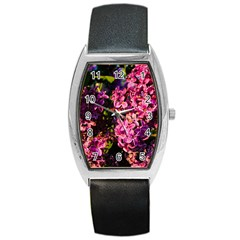 Lilacs Barrel Style Metal Watch by dawnsiegler