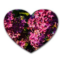 Lilacs Heart Mousepads by dawnsiegler