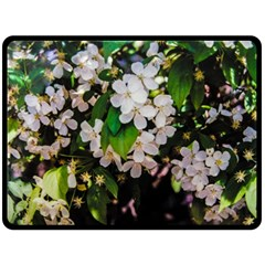Tree Blossoms Double Sided Fleece Blanket (large)  by dawnsiegler