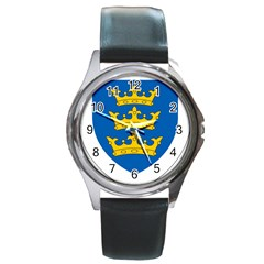 Lordship Of Ireland Coat Of Arms, 1177 1542 Round Metal Watch by abbeyz71