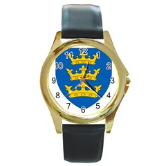 Lordship Of Ireland Coat Of Arms, 1177 1542 Round Gold Metal Watch by abbeyz71