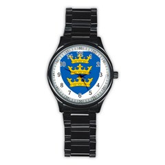 Lordship Of Ireland Coat Of Arms, 1177 1542 Stainless Steel Round Watch by abbeyz71