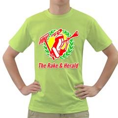 Rake & Herald Logo Green T Shirt by RakeClag