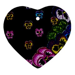 Floral Rhapsody Pt 1 Heart Ornament (two Sides) by dawnsiegler