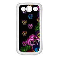 Floral Rhapsody Pt 1 Samsung Galaxy S3 Back Case (white) by dawnsiegler