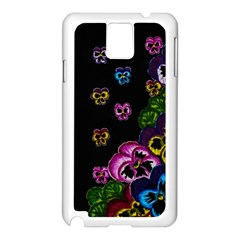 Floral Rhapsody Pt 1 Samsung Galaxy Note 3 N9005 Case (white) by dawnsiegler