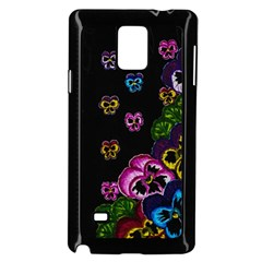 Floral Rhapsody Pt 1 Samsung Galaxy Note 4 Case (black) by dawnsiegler