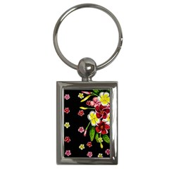 Floral Rhapsody Pt 2 Key Chains (rectangle)  by dawnsiegler