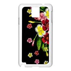 Floral Rhapsody Pt 2 Samsung Galaxy Note 3 N9005 Case (white) by dawnsiegler