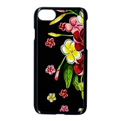 Floral Rhapsody Pt 2 Apple Iphone 7 Seamless Case (black)