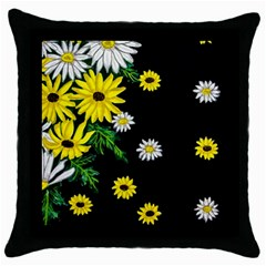 Floral Rhapsody Pt 3 Throw Pillow Case (black) by dawnsiegler