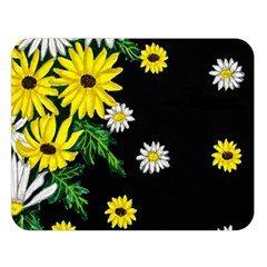Floral Rhapsody Pt 3 Double Sided Flano Blanket (large)  by dawnsiegler