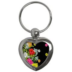 Floral Rhapsody Pt 4 Key Chains (heart)  by dawnsiegler
