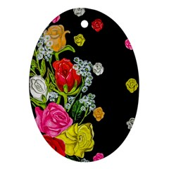Floral Rhapsody Pt 4 Oval Ornament (two Sides) by dawnsiegler