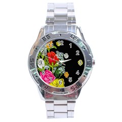 Floral Rhapsody Pt 4 Stainless Steel Analogue Watch by dawnsiegler