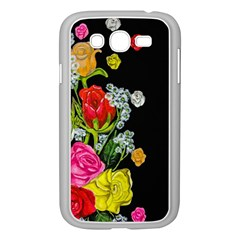 Floral Rhapsody Pt 4 Samsung Galaxy Grand Duos I9082 Case (white) by dawnsiegler