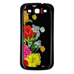 Floral Rhapsody Pt 4 Samsung Galaxy S3 Back Case (black) by dawnsiegler