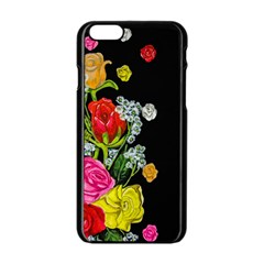 Floral Rhapsody Pt 4 Apple Iphone 6/6s Black Enamel Case by dawnsiegler