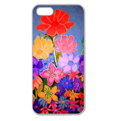 Spring Pastels Apple Seamless Iphone 5 Case (clear) by dawnsiegler
