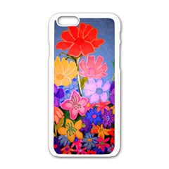 Spring Pastels Apple Iphone 6/6s White Enamel Case by dawnsiegler