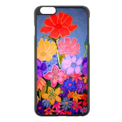 Spring Pastels Apple Iphone 6 Plus/6s Plus Black Enamel Case by dawnsiegler