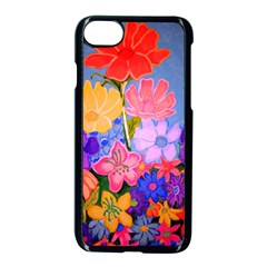 Spring Pastels Apple Iphone 7 Seamless Case (black) by dawnsiegler