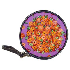 Floral Sphere Classic 20 Cd Wallets by dawnsiegler
