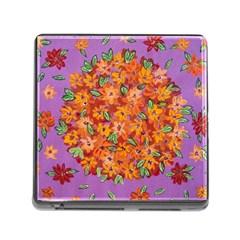 Floral Sphere Memory Card Reader (square)