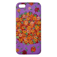 Floral Sphere Apple Iphone 5 Premium Hardshell Case by dawnsiegler