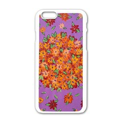Floral Sphere Apple Iphone 6/6s White Enamel Case by dawnsiegler
