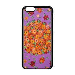 Floral Sphere Apple Iphone 6/6s Black Enamel Case by dawnsiegler