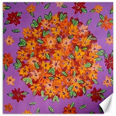 Floral Sphere Canvas 16  X 16   by dawnsiegler