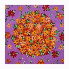 Floral Sphere Medium Glasses Cloth (2 Side) by dawnsiegler