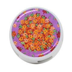 Floral Sphere 4 Port Usb Hub (two Sides)  by dawnsiegler