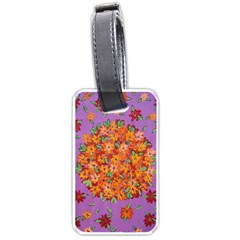 Floral Sphere Luggage Tags (one Side)  by dawnsiegler