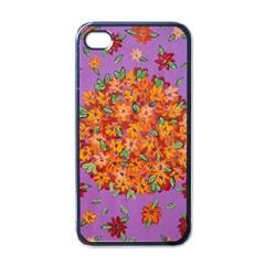 Floral Sphere Apple Iphone 4 Case (black) by dawnsiegler