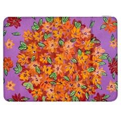 Floral Sphere Samsung Galaxy Tab 7  P1000 Flip Case by dawnsiegler