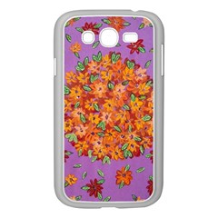 Floral Sphere Samsung Galaxy Grand Duos I9082 Case (white) by dawnsiegler