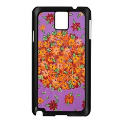 Floral Sphere Samsung Galaxy Note 3 N9005 Case (black) by dawnsiegler