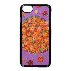 Floral Sphere Apple Iphone 7 Seamless Case (black) by dawnsiegler