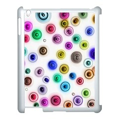 Colorful Concentric Circles        Apple Ipad 3/4 Case (black) by LalyLauraFLM